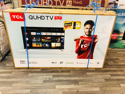 """TCL 65"""" QUHD 4K Android Smart Wifi TV with Google Assistant"""