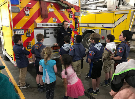 Cub Scouts at CHFD