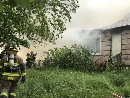 Structure Fire / Lansingville Road