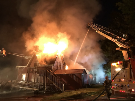 Structure Fire / Dryden Road