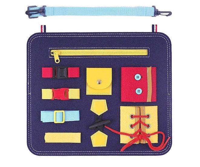Bolso Aprendizaje Montessori Azul