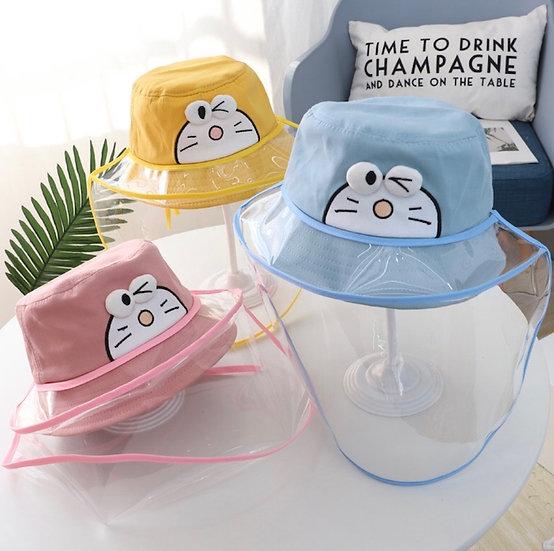 Gorro con Máscara Facial - Gato Cósmico