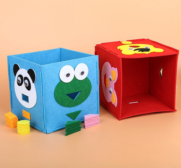 Caja Aprendizaje de Fieltro: Figuras y Colores