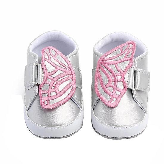 Zapatillas Mariposa Plateadas
