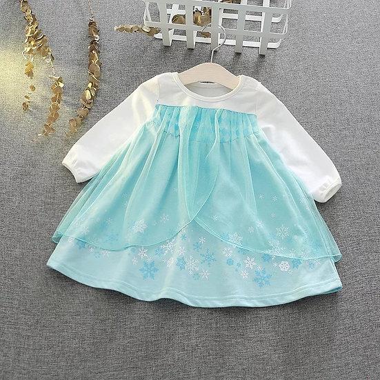 Vestido Princesa Elsa Bebé