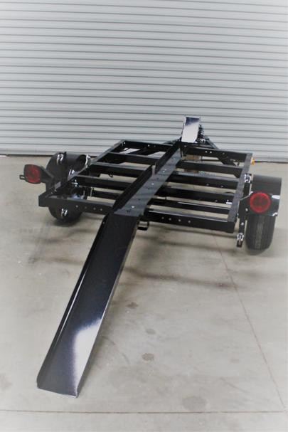 Single Motorcycle rail with Ramp