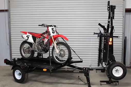Single Motorcycle Standup Trailer