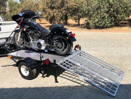 Deluxe Cruiser Motorcycle Trailer