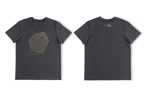 《TIME》麻灰色T-Shirt