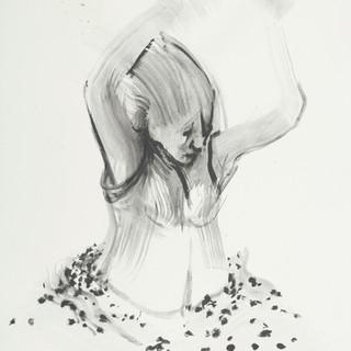 Woman Swarmed By Ants