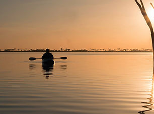Kayak on Lake Dumbleyung - by Christine