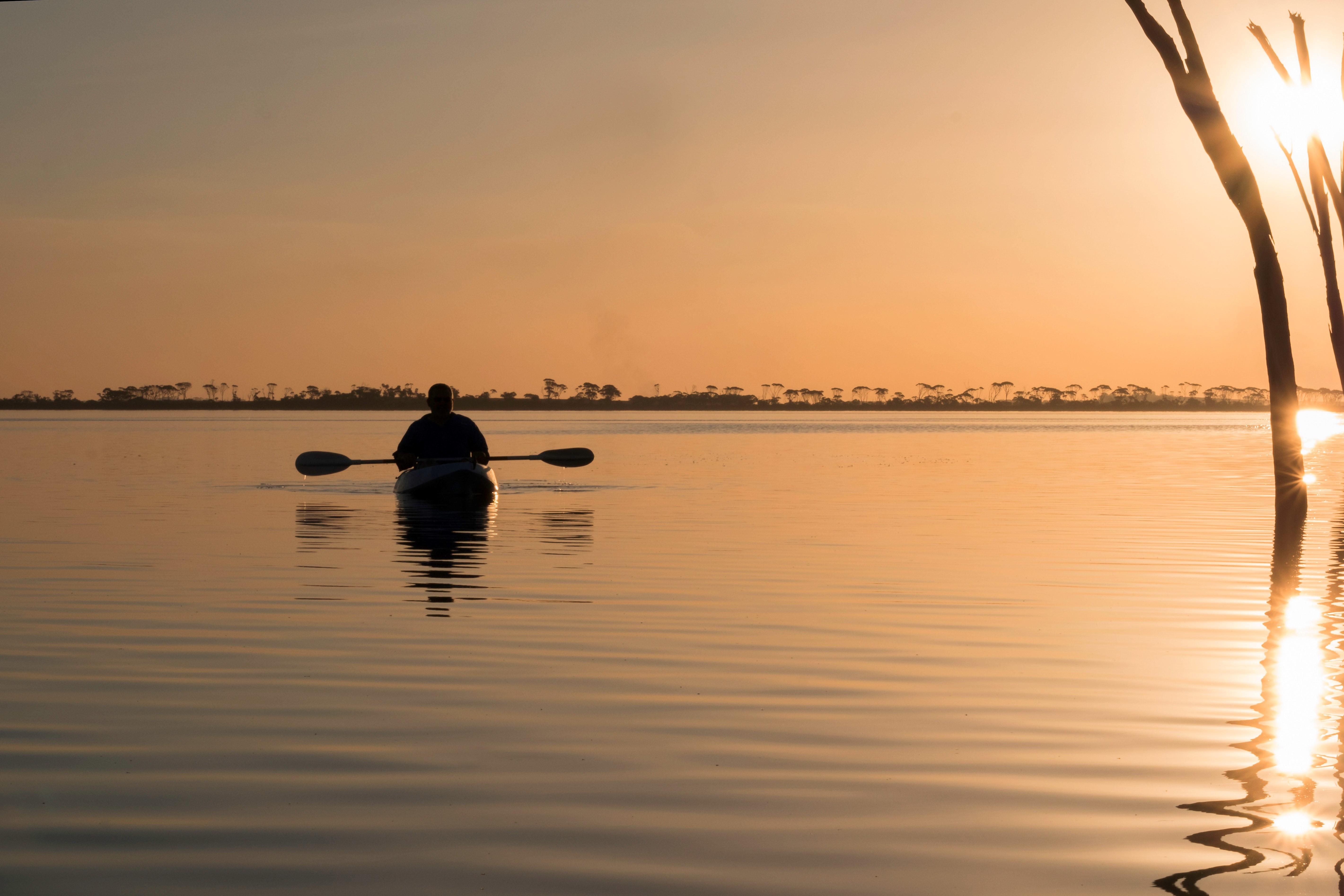 Kayak on Lake Dumbleyung - by Christine Bairstow LG