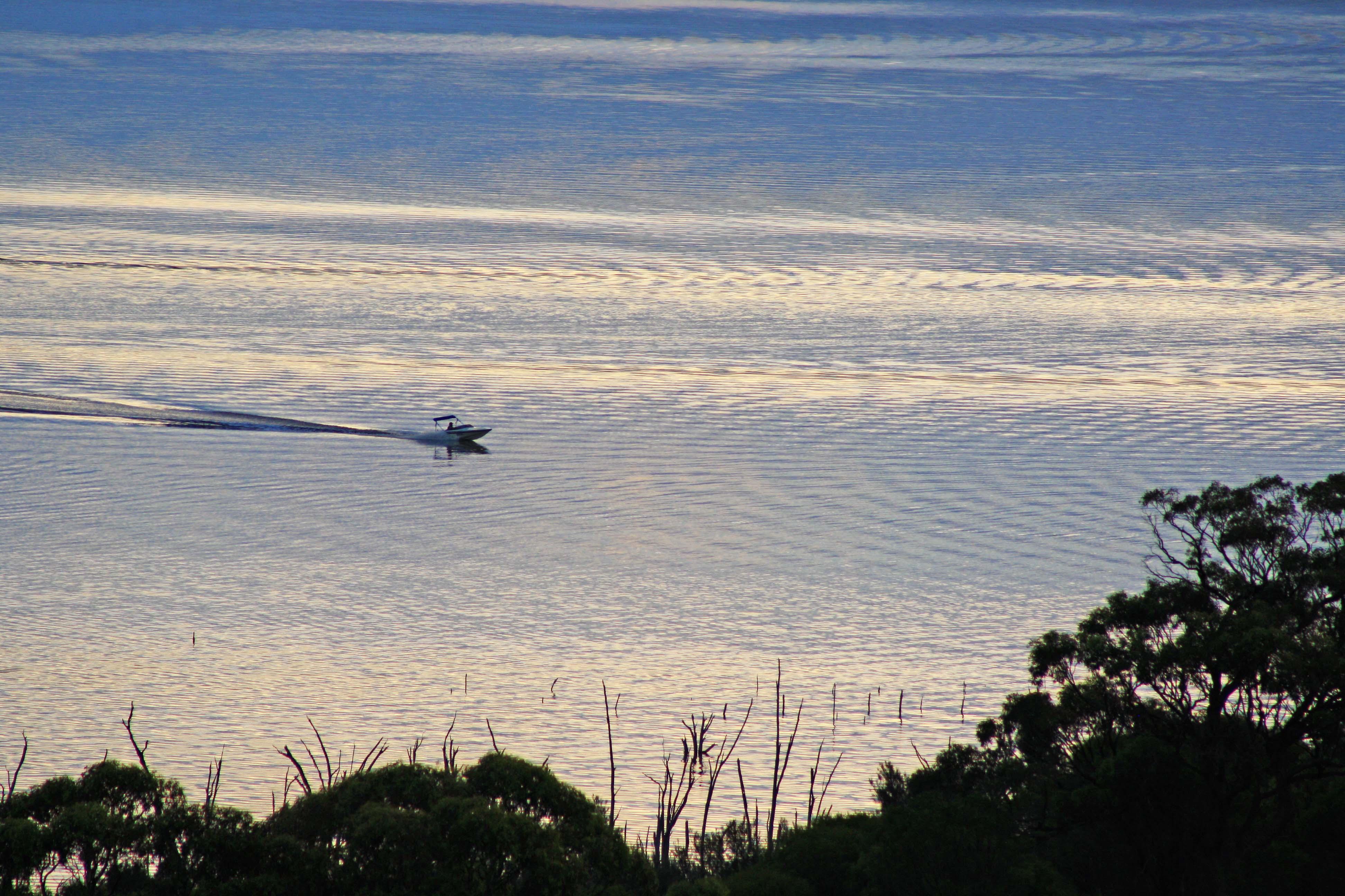 Boat on Lake Dumbleyung