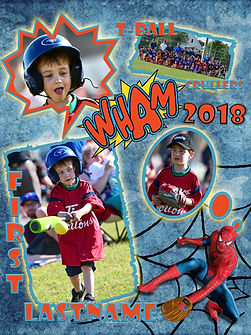 T-Ball -Novice Spiderman Team #2Template