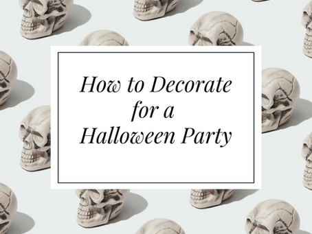 Jubilee Weddings and Events | Decorating For Halloween