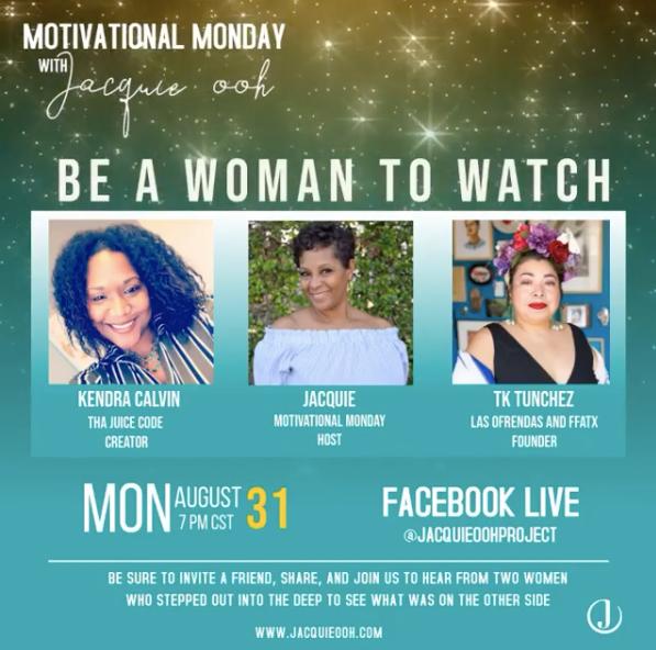 motivational monday Jacquie ooh women em
