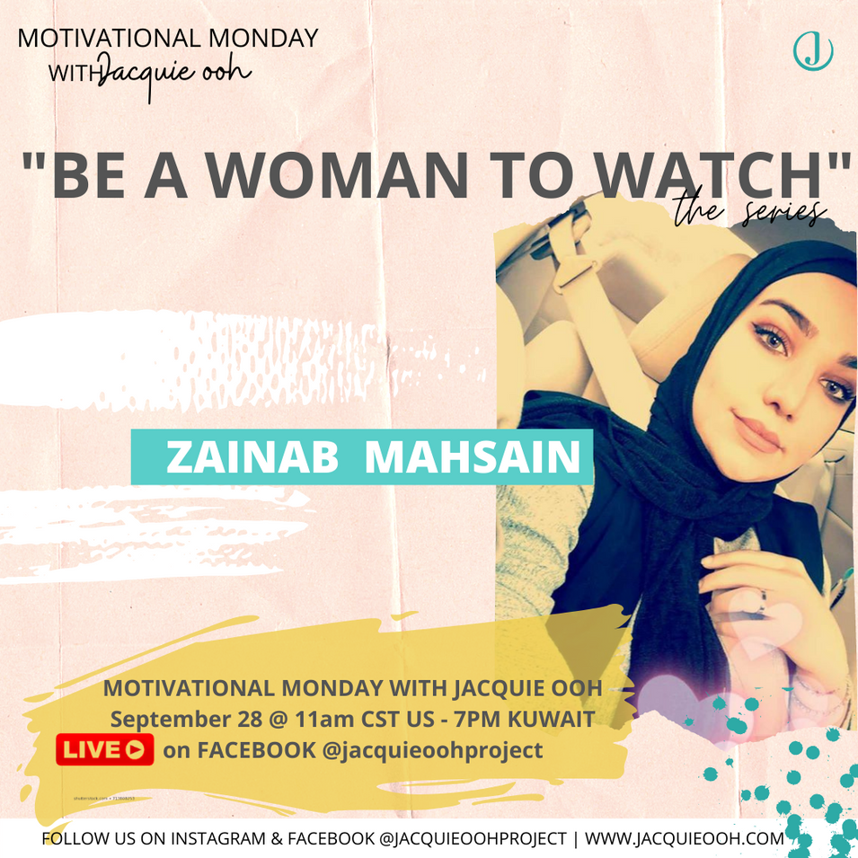 Zainab Kuwait Jacquie ooh motivational m