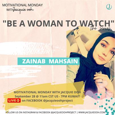 Zainab Kuwait Jacquie ooh motivational m