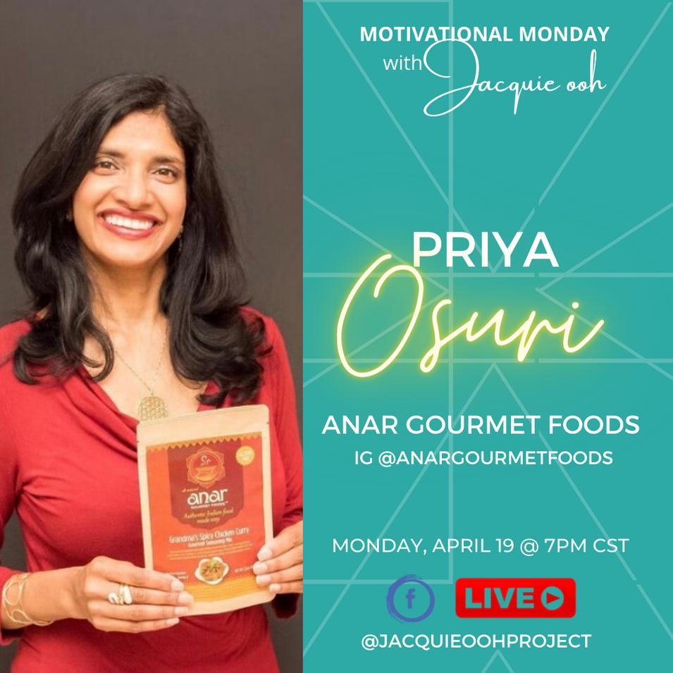 Priya Anar Gourmet Foods Jacquie ooh Mot