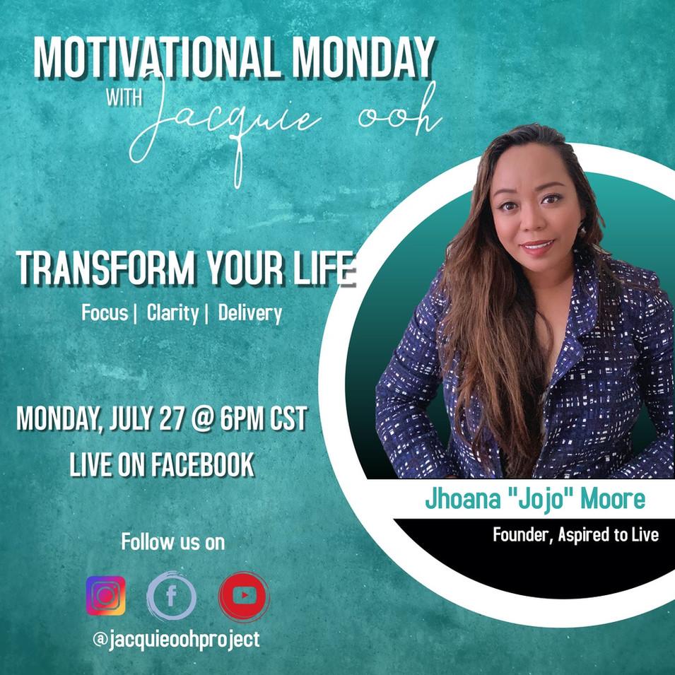 Transform your life Jacquie ooh motivati