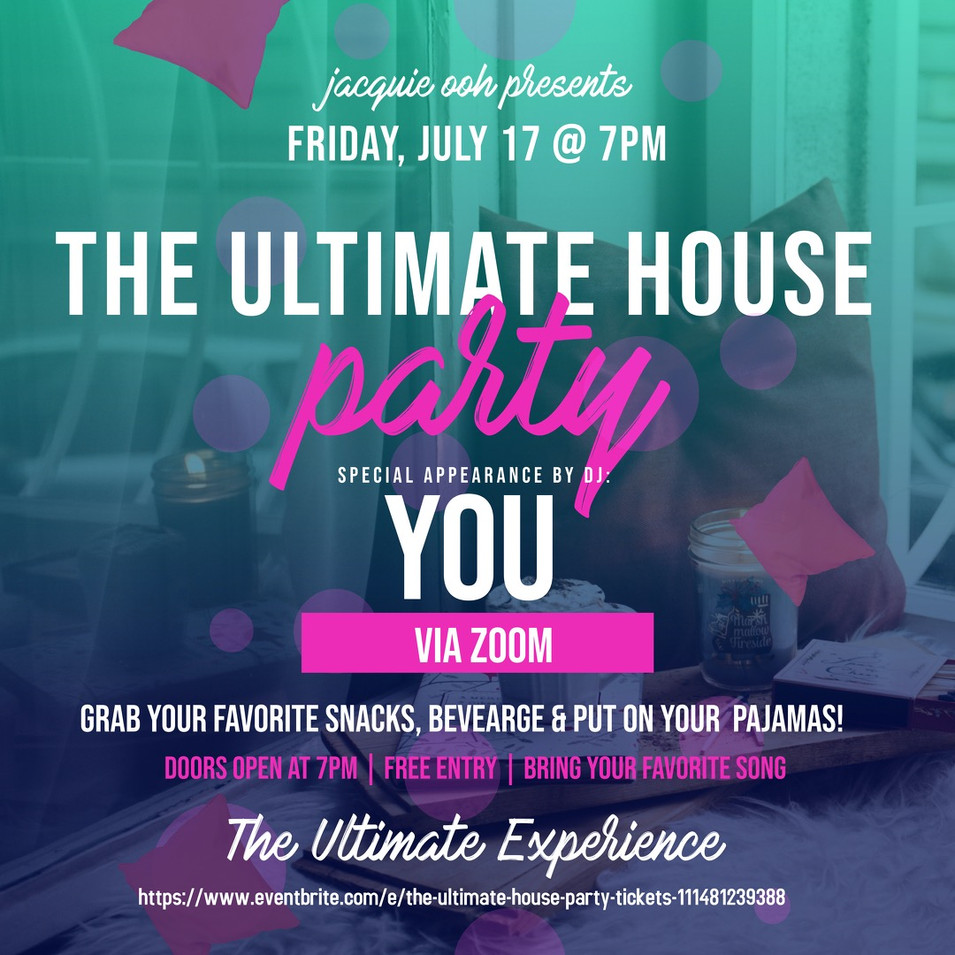 Jacquie Ooh ultimate house party