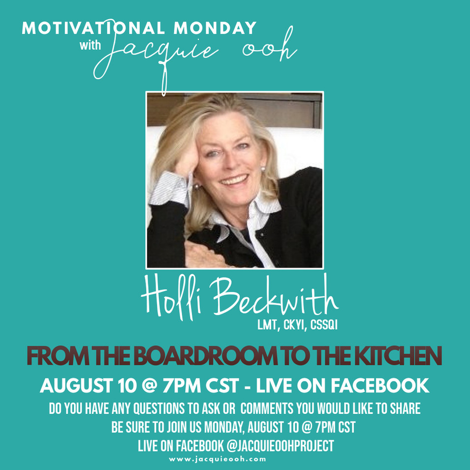 Holli Beckwith Motivational Monday Jacqu