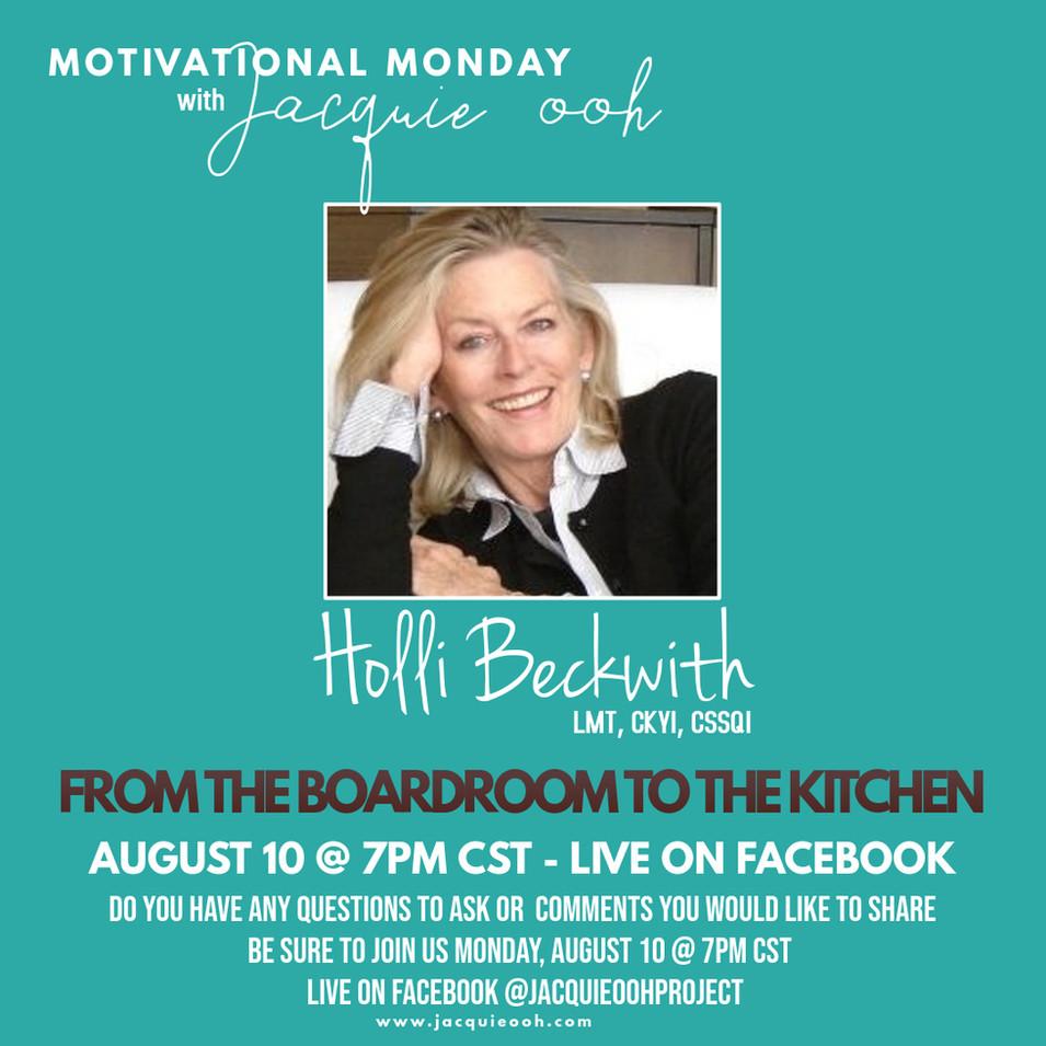 Holli Beckwith Motivational Monday Jacqu