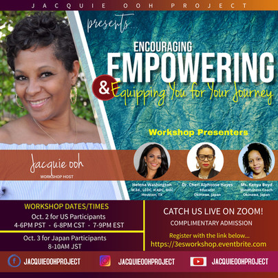 Encouraging Empowering and Equipping Jacquie ooh Workshop