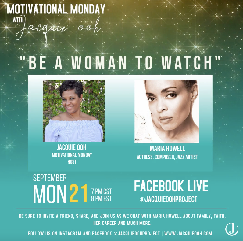 be a woman to watch Jacquie ooh Maria Ho