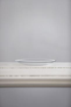 Glasteller für blumige Gestecke