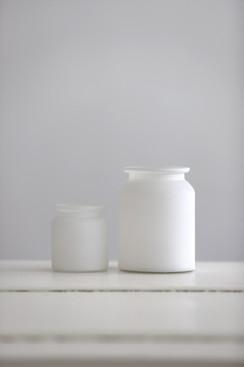 Set 4: satinierte Vasen (handgefertigt)