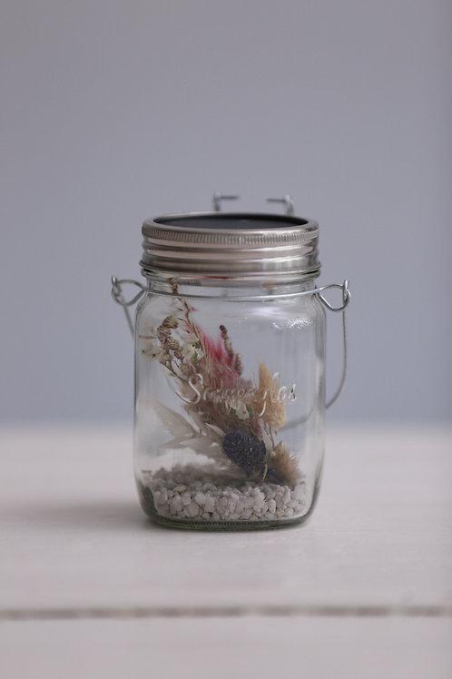 Sonnenglas 250 ml mit Trockenblumen