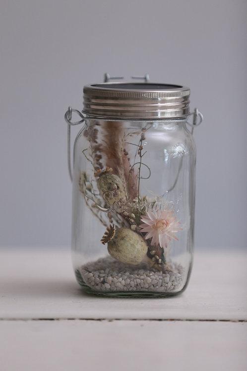 Sonnenglas 1l mit Trockenblumen