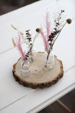 Holzscheibe gross (Durchmesser zwischen 28cm & 30cm)