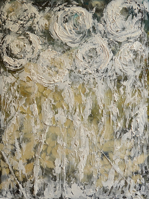 Abstract White Roses