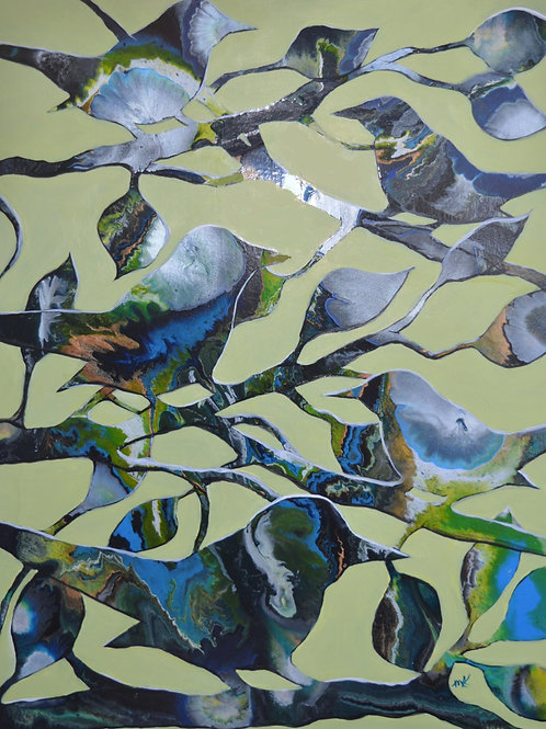 Earth Birds - Embellished Giclée