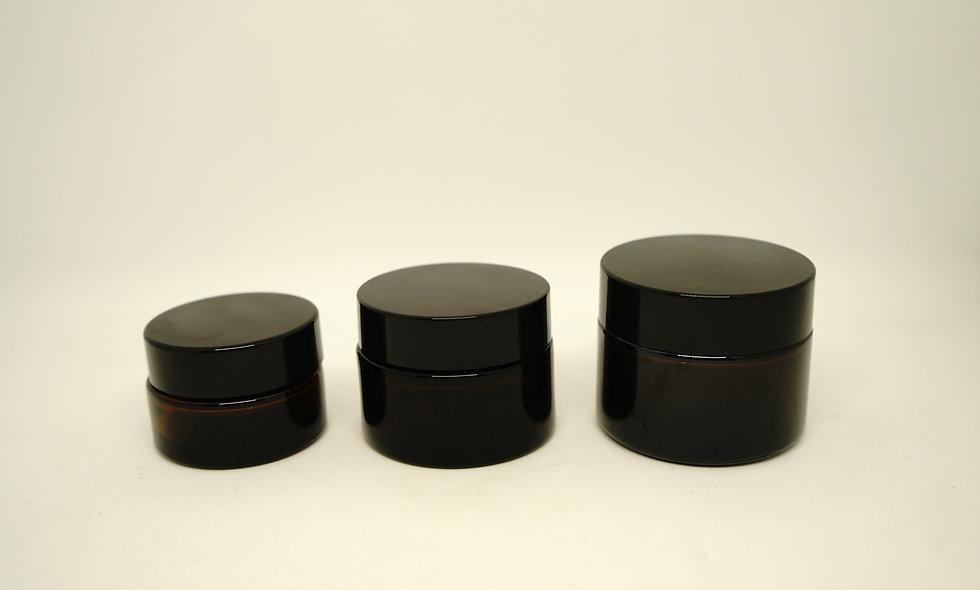 Cream Glass Jars || Amber