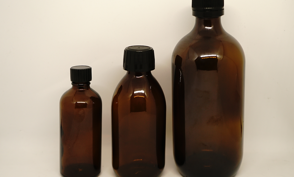 Glass Tincture Bottles || Amber