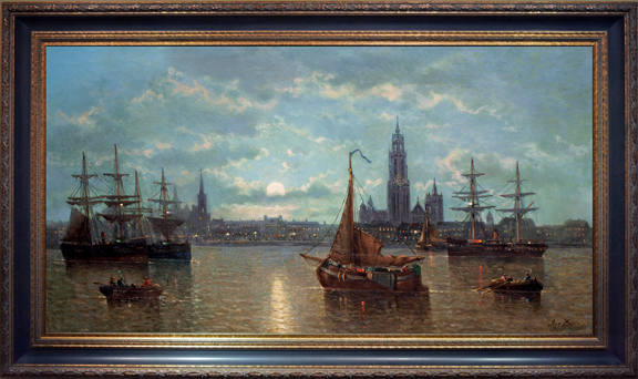 """Moonlit Harbor, Antwerp"""
