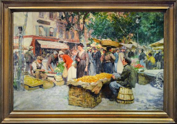 """A Market Scene in Toulon"""
