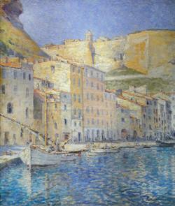 """Harbor View of Bonifacio, Corsica"""