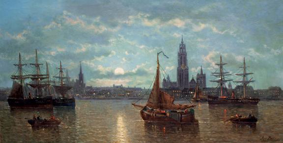 """""""Moonlit Harbor, Antwerp"""""""