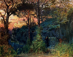 """A Roman Castle at Sunset"""