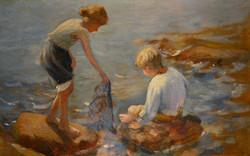 """Siblings Fishing"""