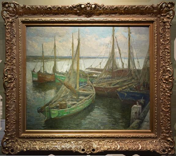 """""""Flemish Harbor Scene"""""""