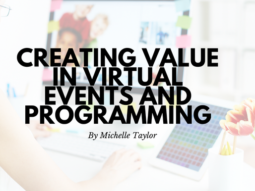 Creating Value in Virtual Events and Programming