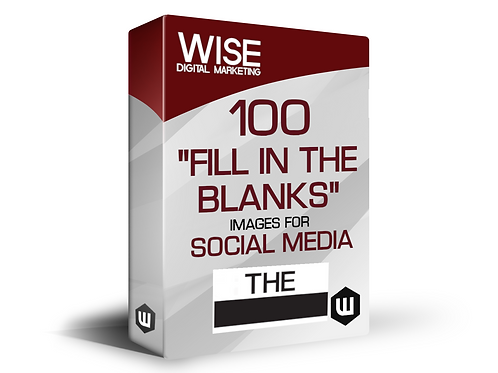 """100 Visually Engaging Social Media """"Fill in the Blanks"""" Templates & Images"""