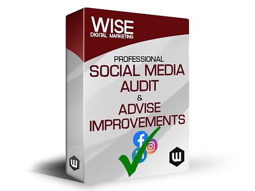 Professional Social Media Audit & Advise Improvements