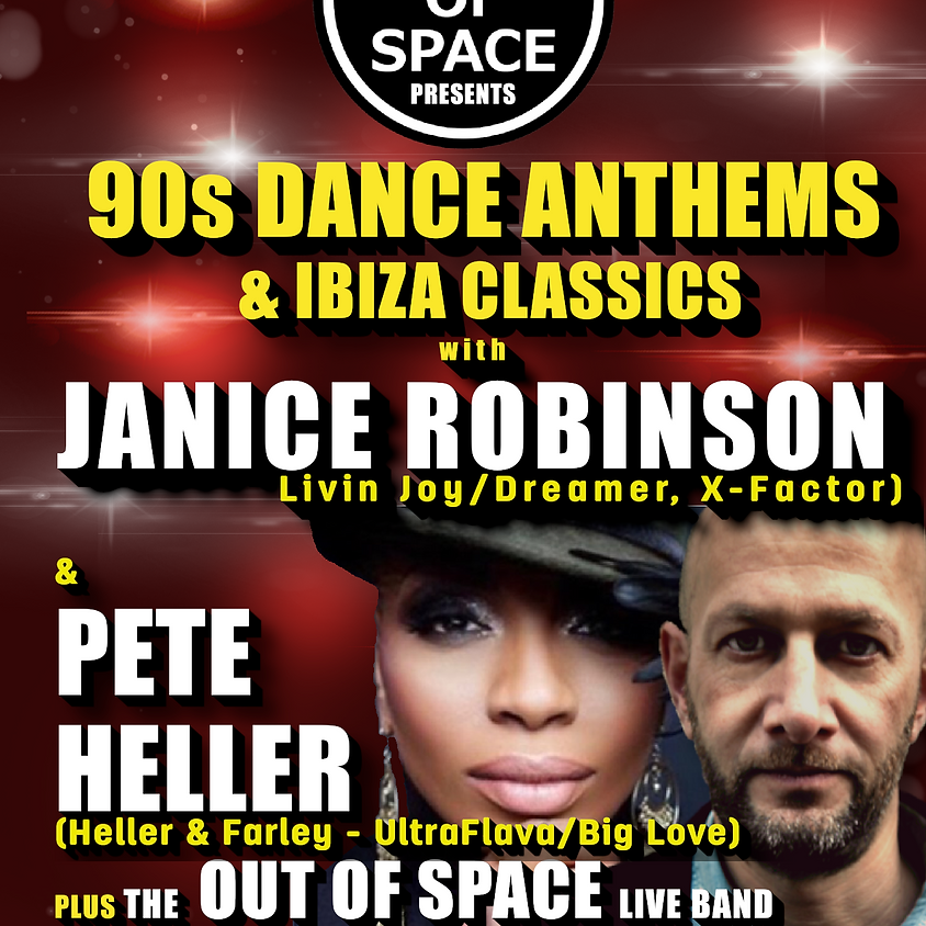 90s Anthems with Janice Robinson & Pete Heller - POSTPONED - NEW DATE TO FOLLOW