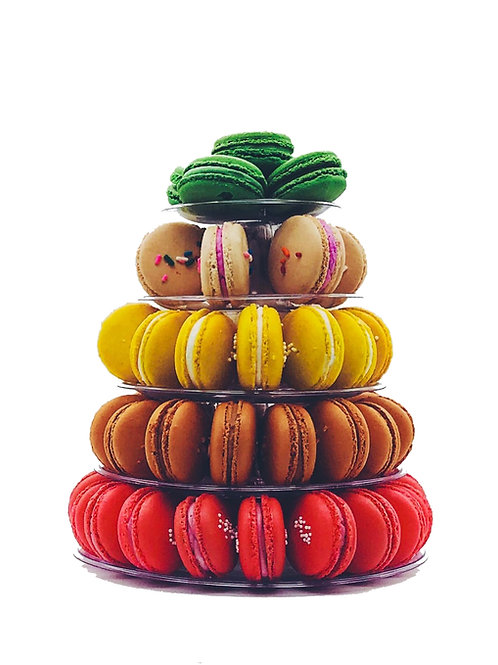 Macaron Tower with 5-Tiers